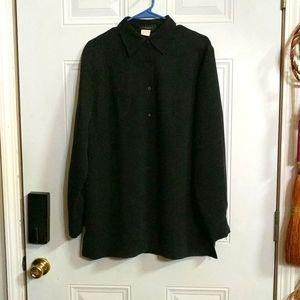 Harris / Wallace Black Button Down Shirt